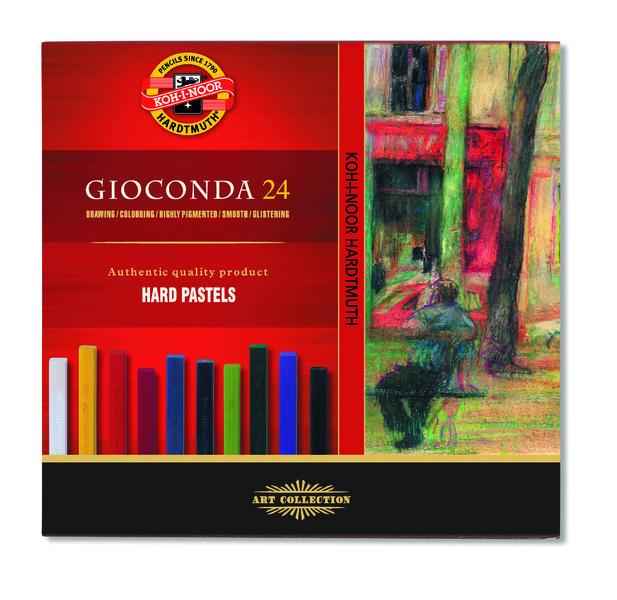 Tvrdé olejové pastely Gioconda / 24 dílný set olejové pastely KOH-I-NOOR