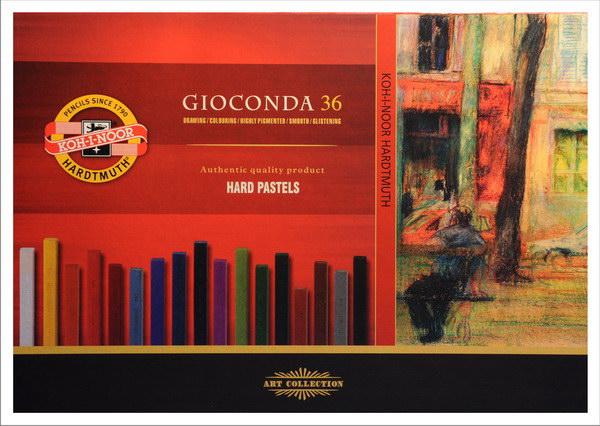Tvrdé olejové pastely Gioconda / 36 dílný set olejové pastely KOH-I-NOOR