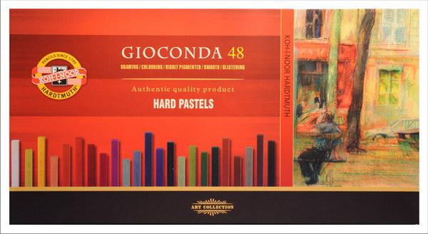 Tvrdé olejové pastely Gioconda / 48 dílný set olejové pastely KOH-I-NOOR