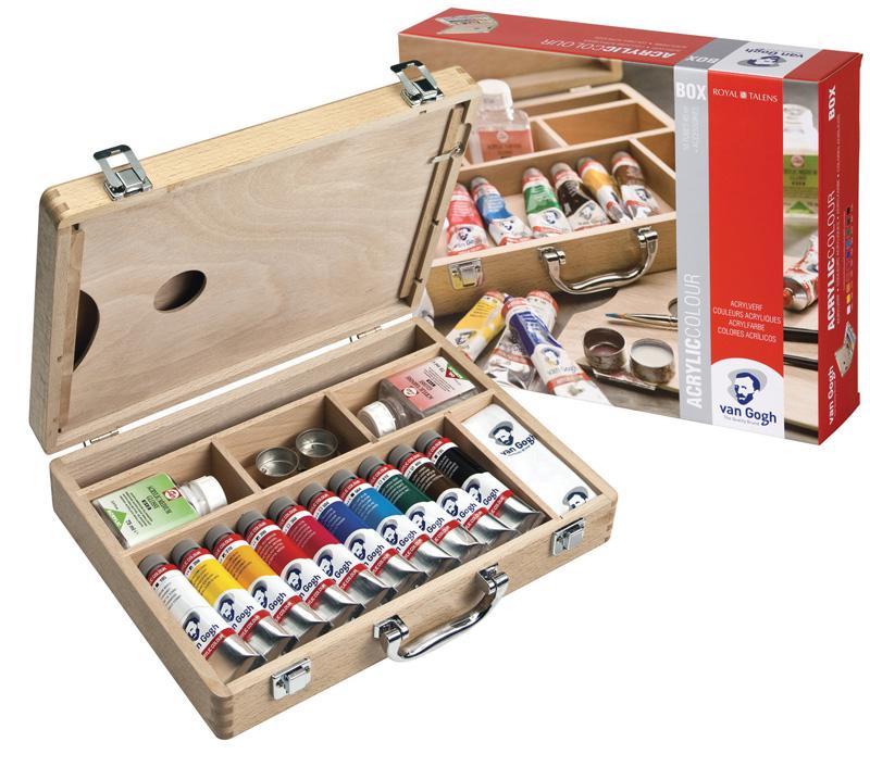 Akrylové barvy Van Gogh - základní box 10x40 ml Box s akrylovými barvami