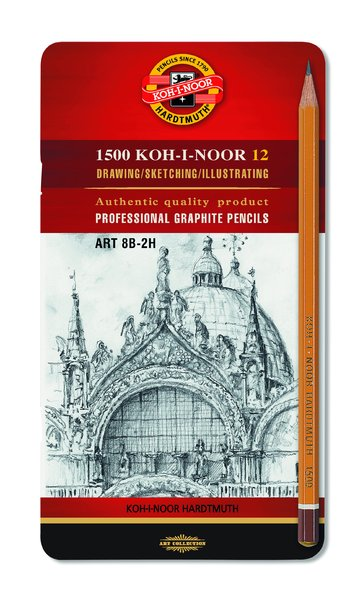 Sada grafitových tužek ART KOH-I-NOOR / 12 dílná grafitové tužky KOH-I-NOOR