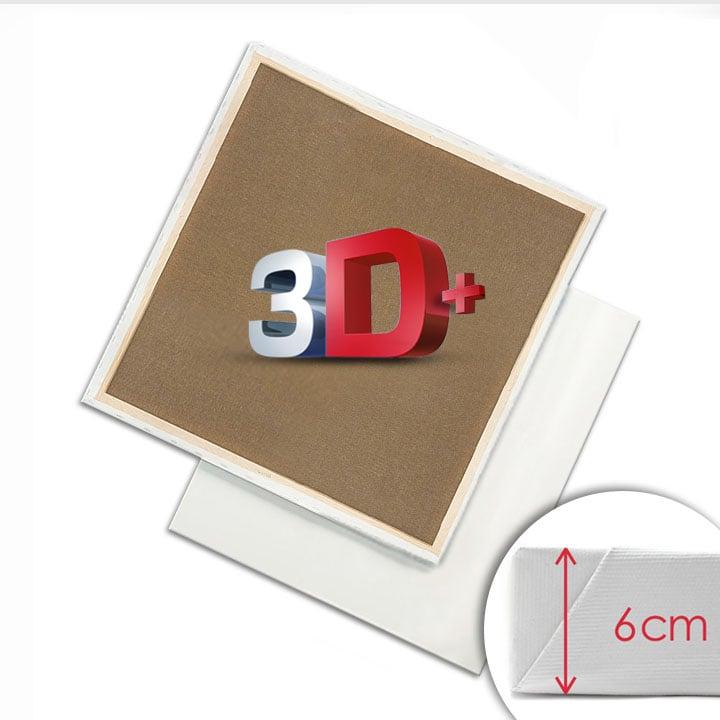 3D + Malířské plátno na rámu 20x20 cm malířská plátna 3D +