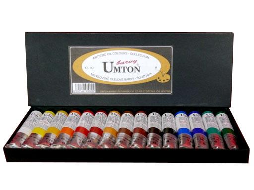 Olejová sada UMTON O-90 15x20ml A sada olejových barev UMTON