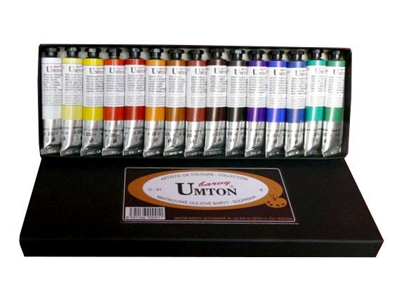 Olejová sada UMTON O-91 15x20ml B sada olejových barev UMTON