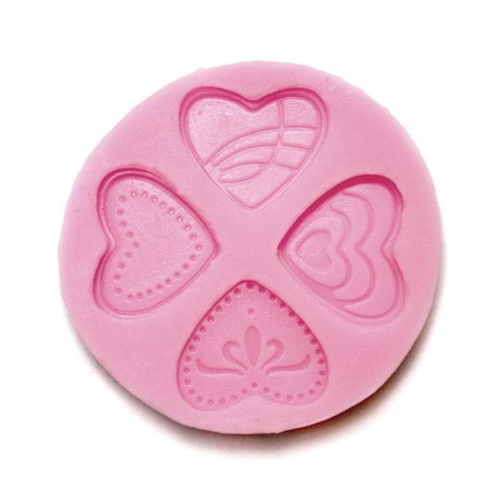 Silikonová forma na odlévání - Srdce silikonová forma Pentacolor