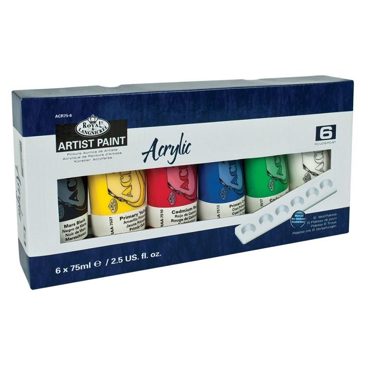 Sada akrylových barev Royal & Langnickel Essentials / 7 dílná
