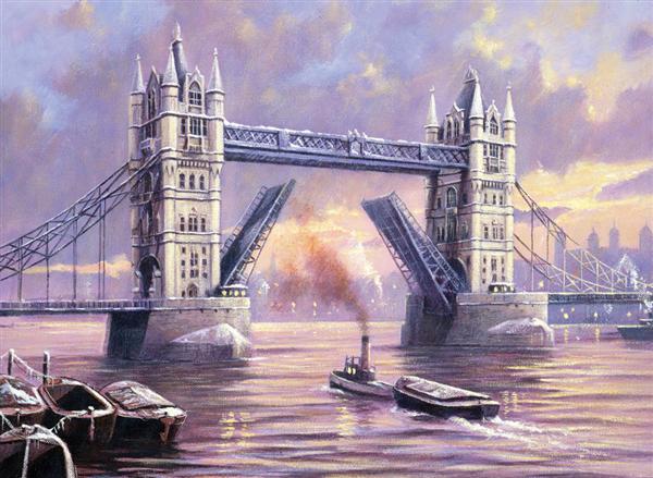 Kreativní set na malování - Tower Bridge A3 sada na malování podle čísel Royal & Langnickel