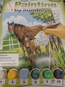 Kreatívní set na malováni - Kůň a hříbě sleva -50% sada na malování podle čísel Royal & Langnickel