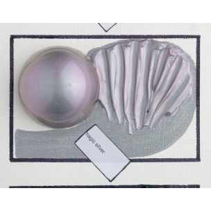 Magická acryl barva 59 ml - stříbrná