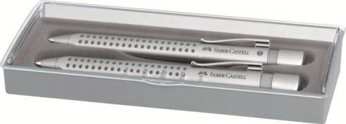 Souprava GRIP 2011 stříbrná Faber Castell - Souprava psacích potřeb