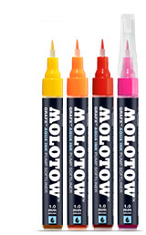 MOLOTOW™ GRAFX Aqua Ink Pump Softliner – Primary Yellow