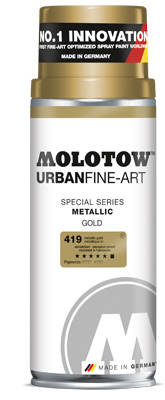 MOLOTOW™ UFA Metallic 400 ml – Gold
