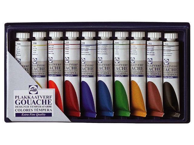 Temperové barby GOUACHE TALENS SET 10x20ml