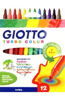 Markery GIOTTO TURBO COLOR / 12 barev