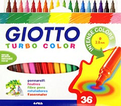 Markery GIOTTO TURBO COLOR / 36 barev