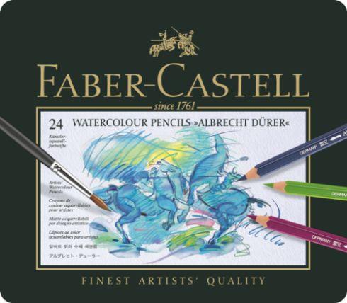 Akvarelové pastelky A.Dürer set 24 ks - plech Faber Castel - akvarelový pastelka Albrecht Dürer