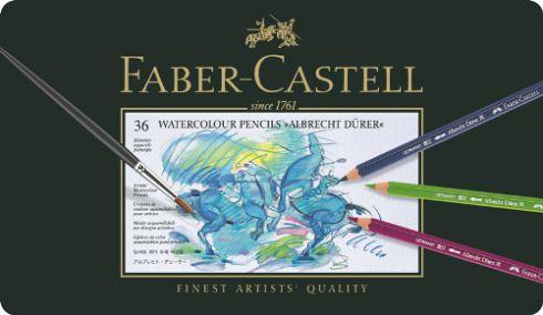 Akvarelové pastelky A.Dürer set 36 ks - plech Faber Castel - akvarelový pastelka Albrecht Dürer