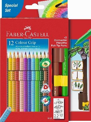 Akvarelové pastelky Grip + 2 Popisovače Faber Castel - Akvarelové pastelky