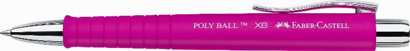 Kuličkové pero Poly Ball XB, růžová Faber Castell - Kuličkové pero Faber Castell - Kuličkové pero