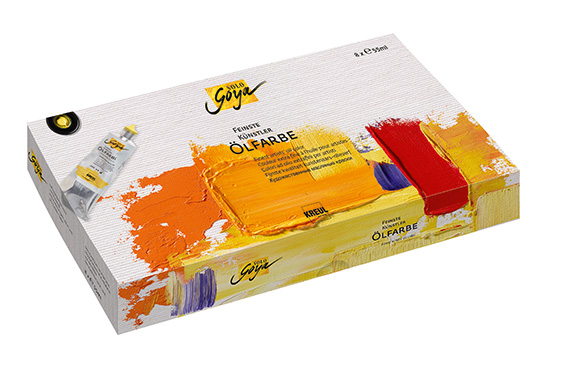 Olejové barvy Finest Artists'Solo Goya set 8x55ml olejové barvy Solo Goya - C. Kreul