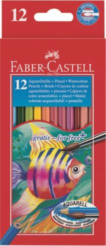 Pastelky akvarelové set 12 barevné v pap.krab. Faber Castel - Pastelky akvarelové