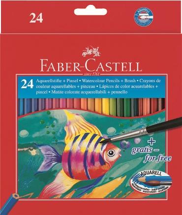 Pastelky akvarelové set 24 barevné v pap.krab. Faber Castel - Pastelky akvarelové