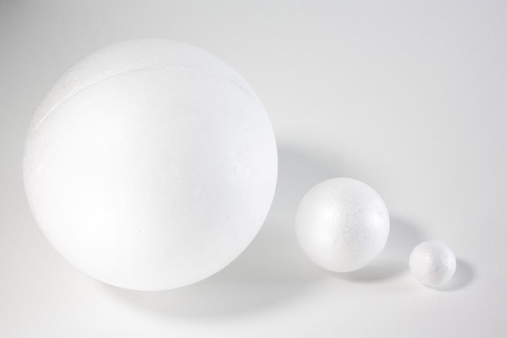 Polystyrenová koule 6 cm polotovary z polystyrenu