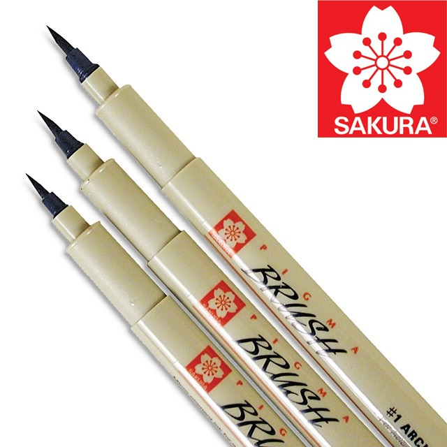 Kreativní pero SAKURA Pigma Brush - Black