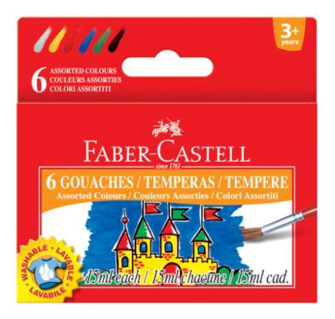Temperové barvy v kelímku 6 barevné 15 ml / 36 Faber Castel - Temperové barvy