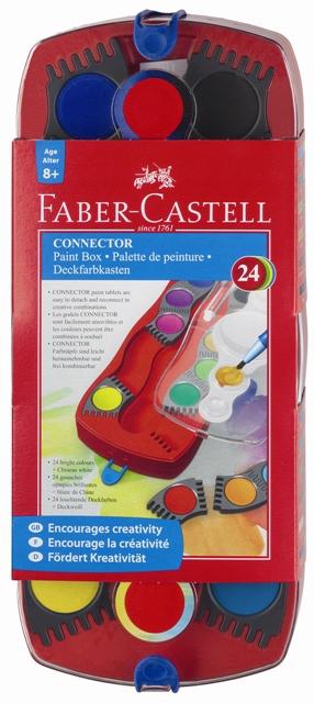 Vodové barvy stavebnicové 24 barevné Faber Castel - Vodové barvy